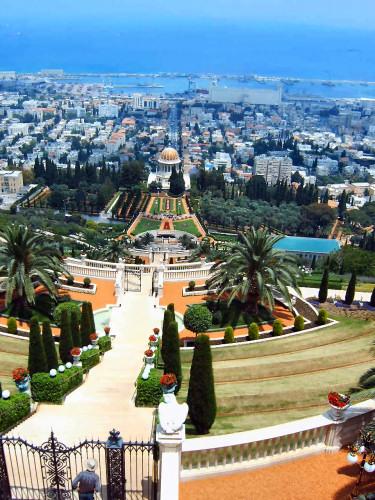 Haifa mit bick vom carmel gebirge